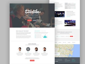 Eventide – Landing Page PSD Template