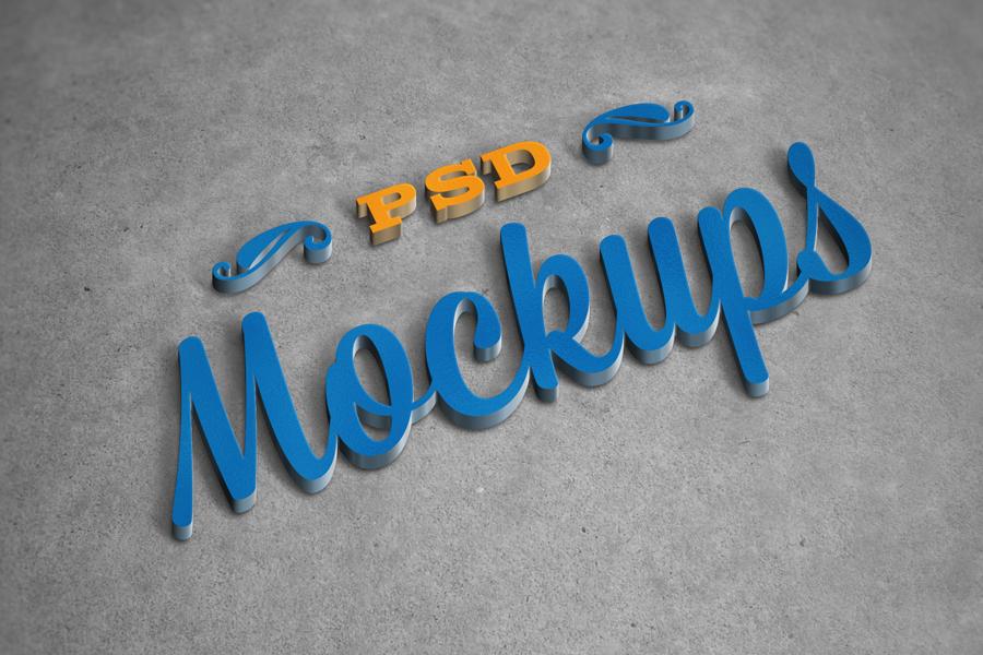 3D logo mockups psd templates 2