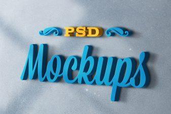 3D logo mockups psd templates 1