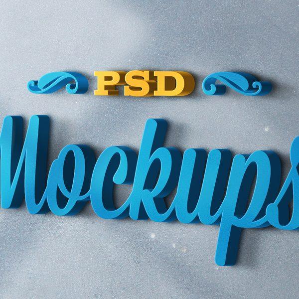 3D logo mockups psd templates 10