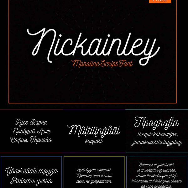 Nickainley Script Font 2