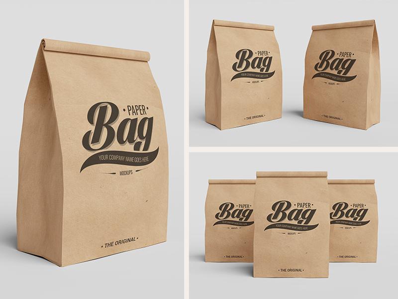 Paper bag psd mockups 2