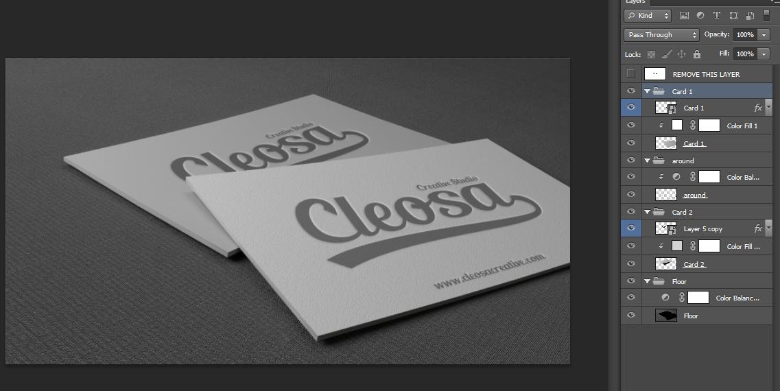 Business card psd mockups 5