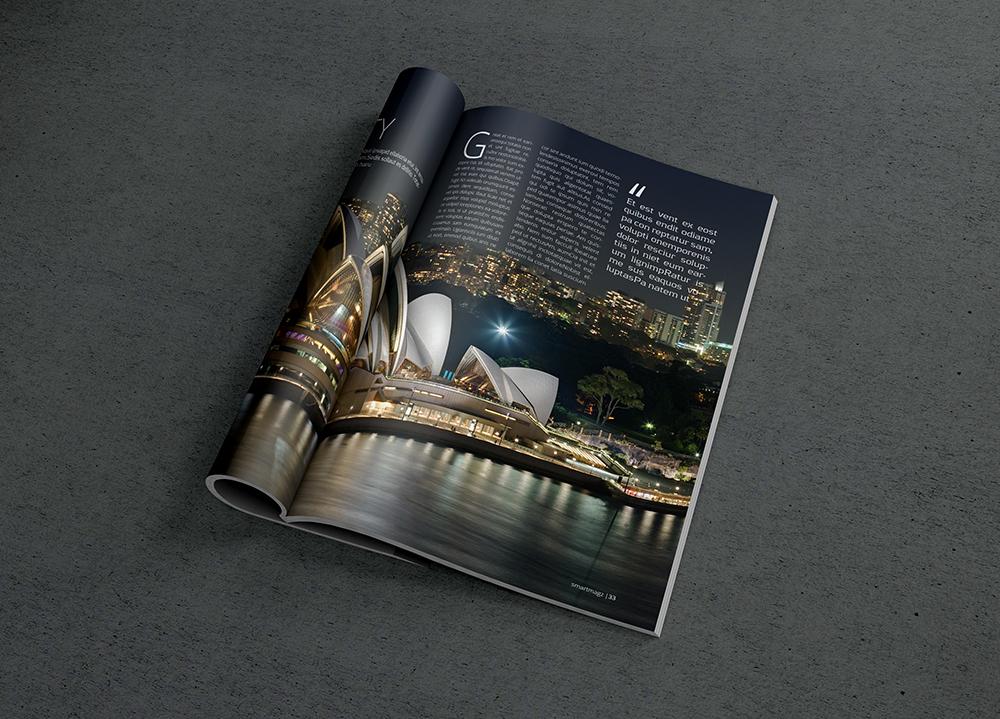Magazine PSD Mockup 1