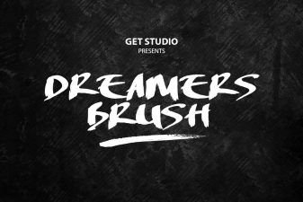 Dreamers brush font 4
