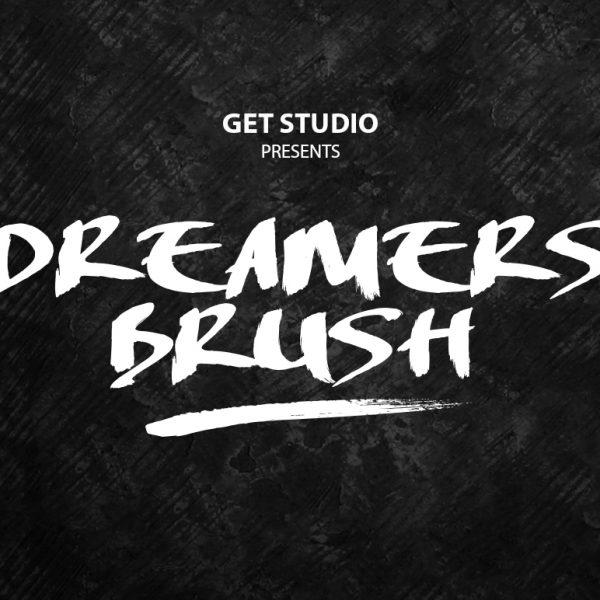 Dreamers brush font 3