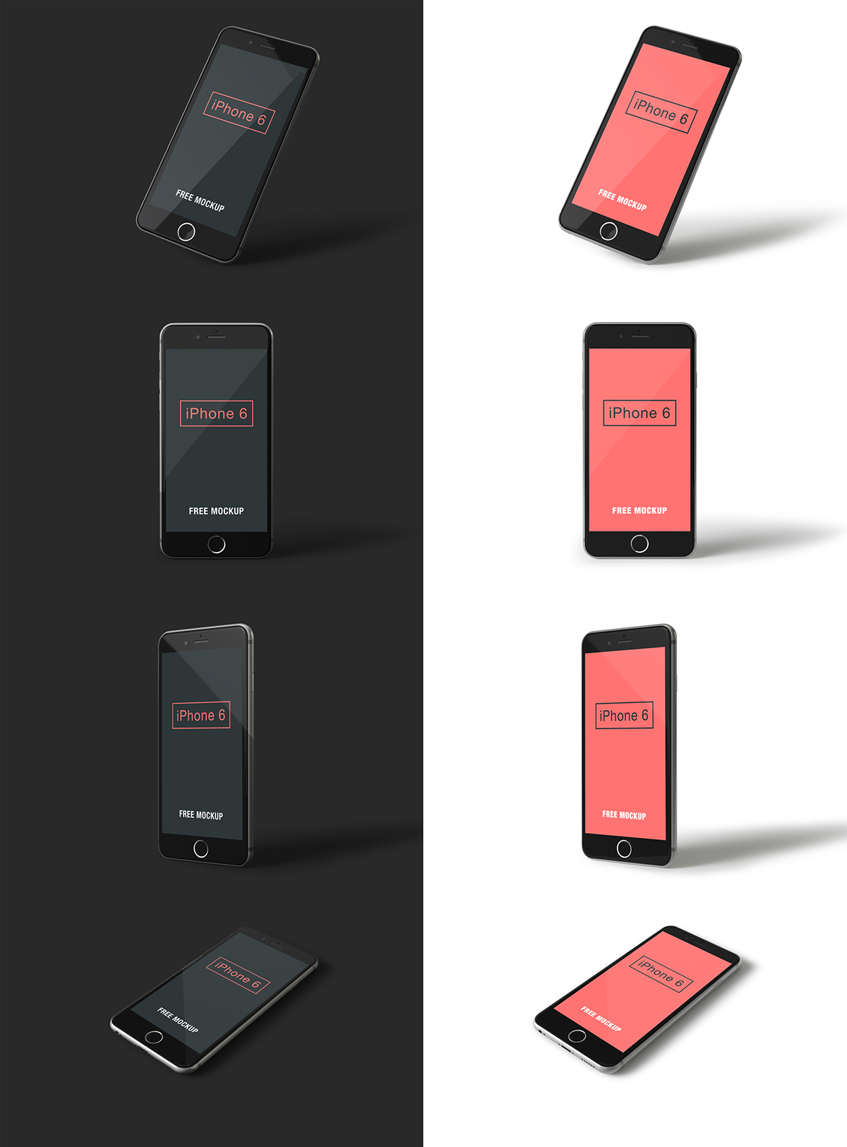 iPhone 6 psd mockups 3