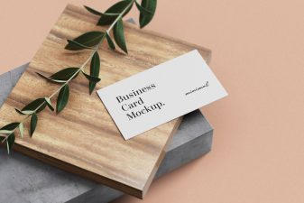 Free Minimal Business Card mockups 1