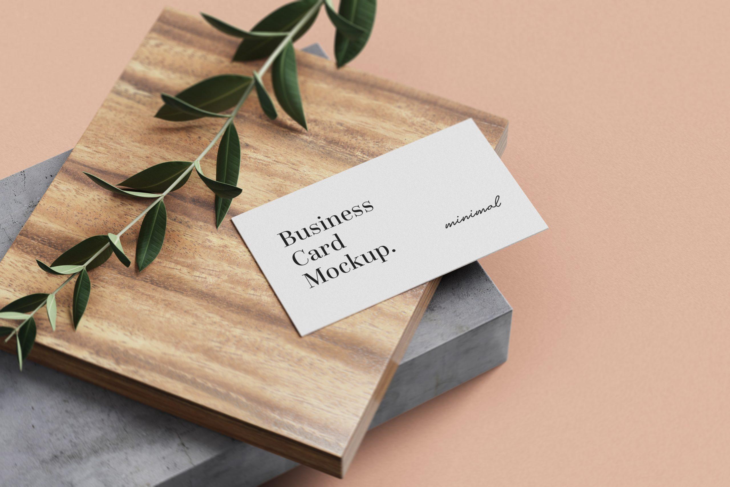 Free Minimal Business Card mockups 1