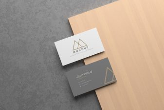 Free Elegant business card mockup