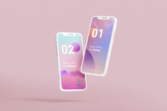 iPhone 12 Pro Clay Mockup By GraphicList