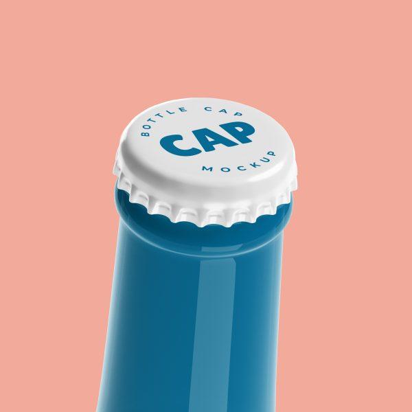 Free Bottle Cap Mockup