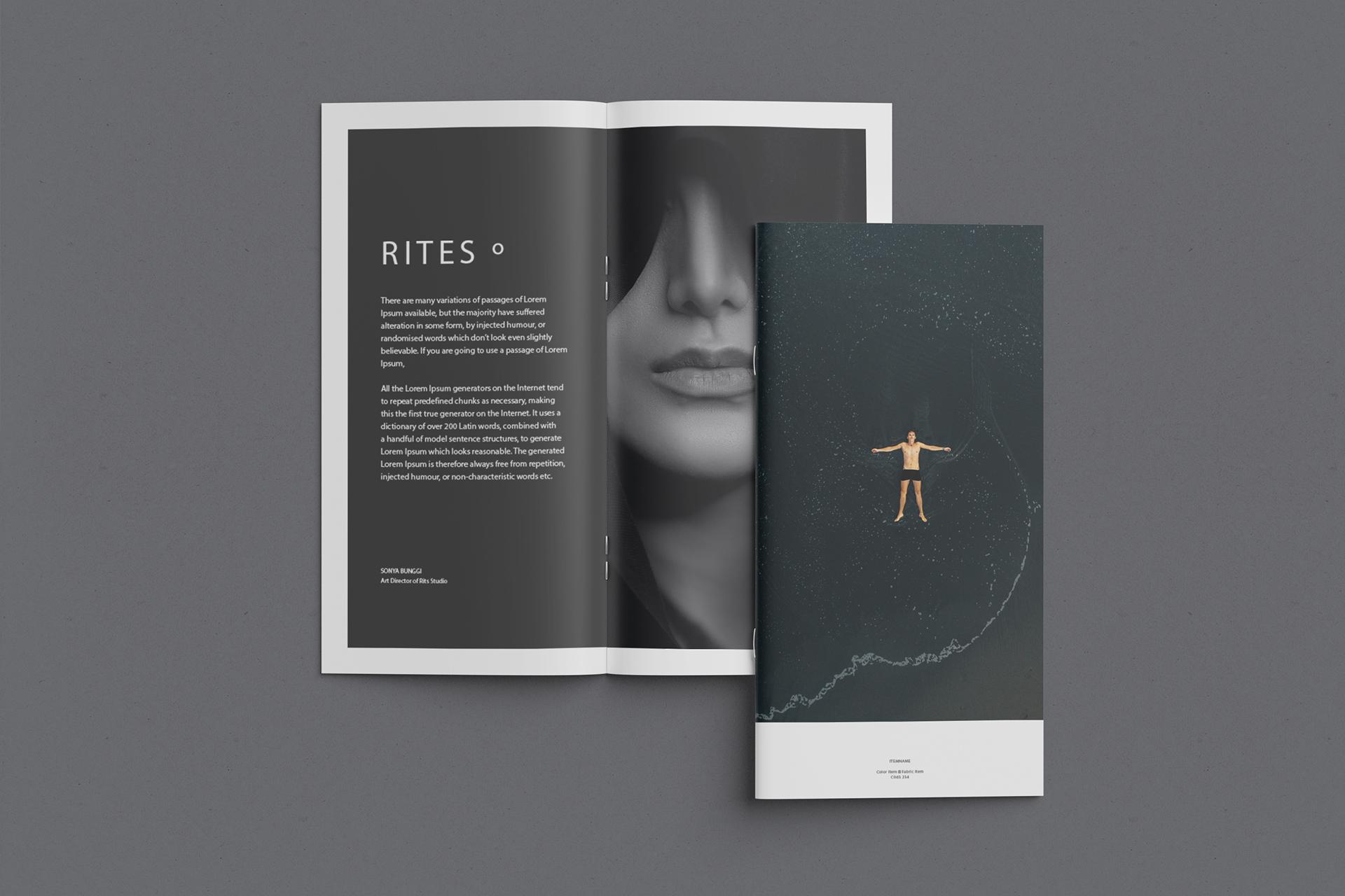 DL brochure mockup